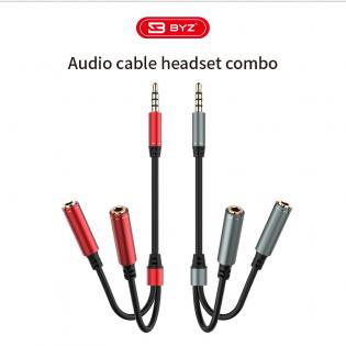 Sdoppiatore Audio maschio da 3,5 mm a doppio microfono e audio femmina da 3,5 mm.