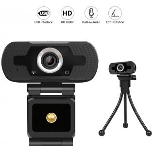 Loosafe Webcam USB con Microfono Web Cam Full HD 1080P