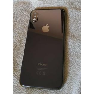 Scocca Completa con componenti per iPhone X Tasti Volume e Accensione e Ricarica Wireless Nera