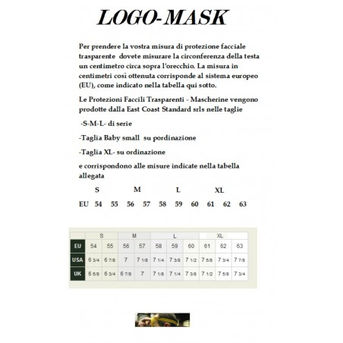 Mascherina Trasparente Antiappannamento Made in Italy Dispositivo di protezione facciale trasparente